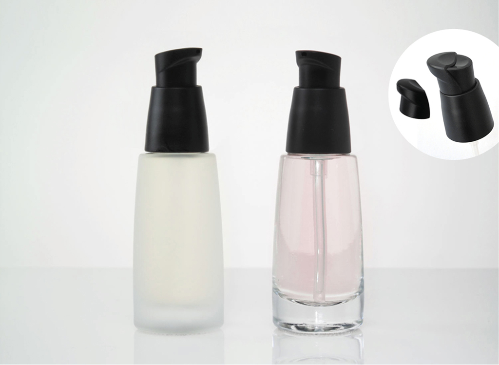Allegra Glass Bottles with Gel Pump in Stock
