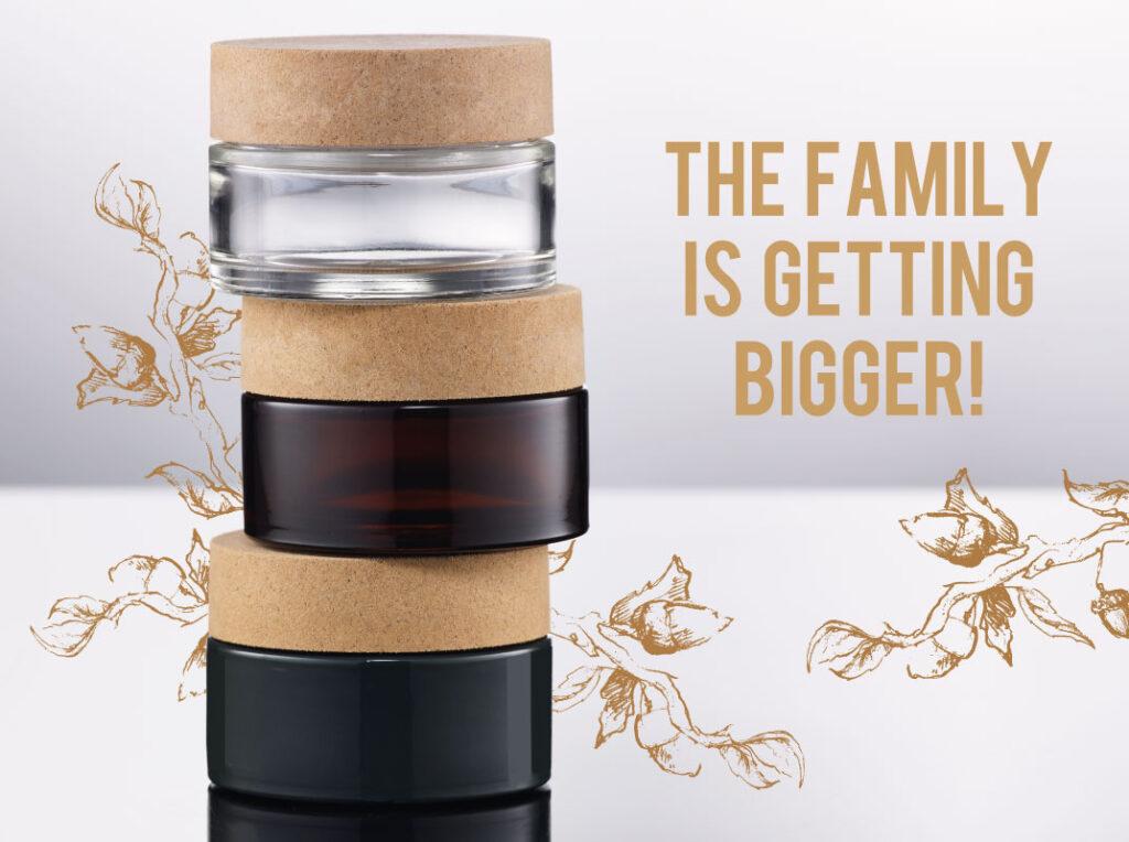 Glass jar with Sughera Cap, News