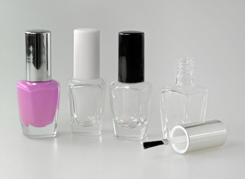 Nail Polish Bottles square in Stock