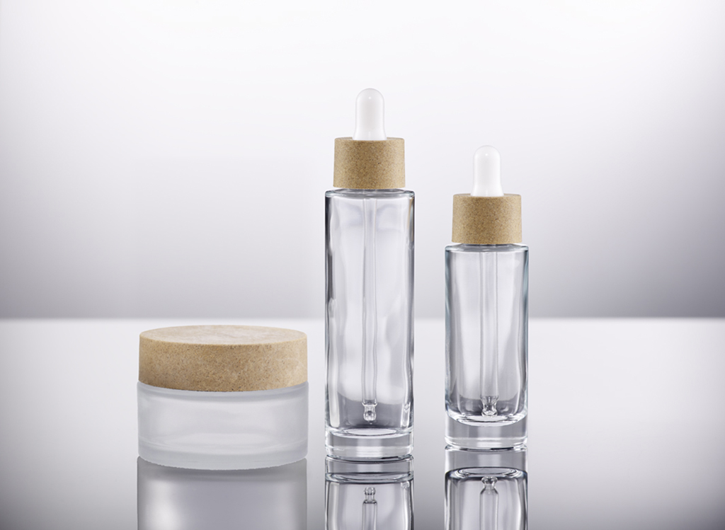 Glass Dropper and Glass Jar with Sughera Closures