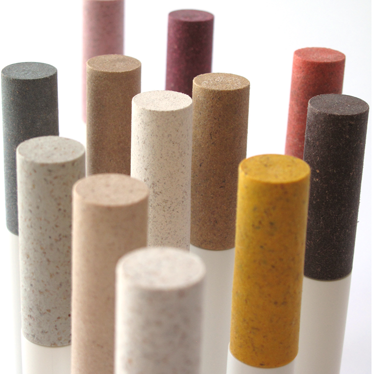 Mixcycling blend materials in natural colors