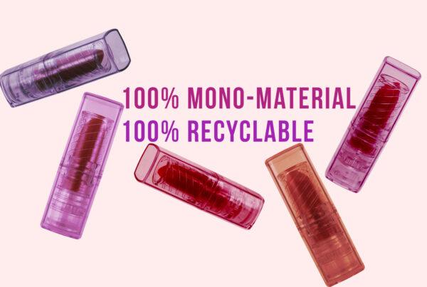Lippenstift aus Monomaterial PET